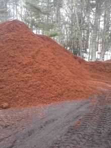 pile of fresh mulch in New Braintree, MA